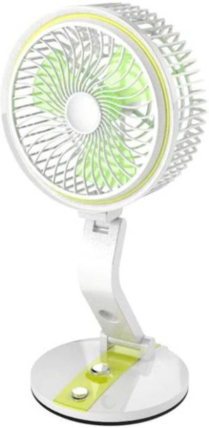Onshoppy Folding Rechargeable Fan With Powerful LED Light And Multifunction Foldable Angle With USB Charging And AC Charging Port. Folding Rechargeable Fan With Powerful LED Light And Multifunction Foldable Angle With USB Charging And AC Charging Port. USB Fan