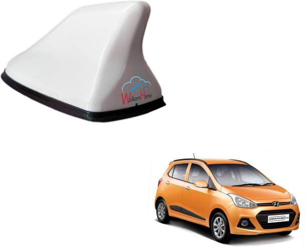 WolkomHome High performance Shark Fin Antenna White color Car FM Radio Signal Aerials for Hyundai I10 Grand Shark_Fin_White_Hyundai_I10_Grand Satellite Vehicle Antenna