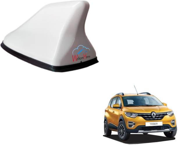 WolkomHome High performance Shark Fin Antenna White color Car FM Radio Signal Aerials for Renault-Triber Shark_Fin_White_Renault-Triber Satellite Vehicle Antenna