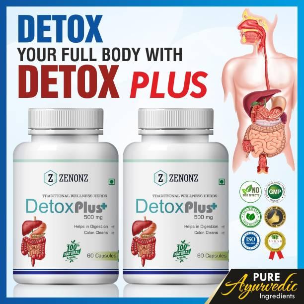zenonz Detox Plus Herbal Capsules For Helps In Digestion & Colon Clean 100% Ayurvedic (120 Capsules)