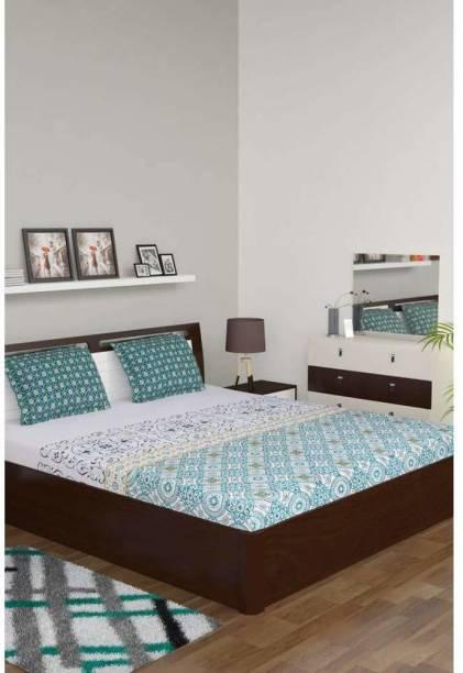 PORTICO NEW YORK 210 TC Cotton King Printed Bedsheet