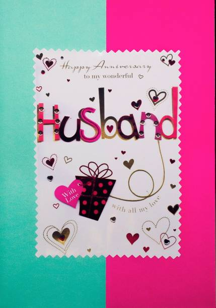 AanyaCentric Husband Anniversary Handmade Greeting Card