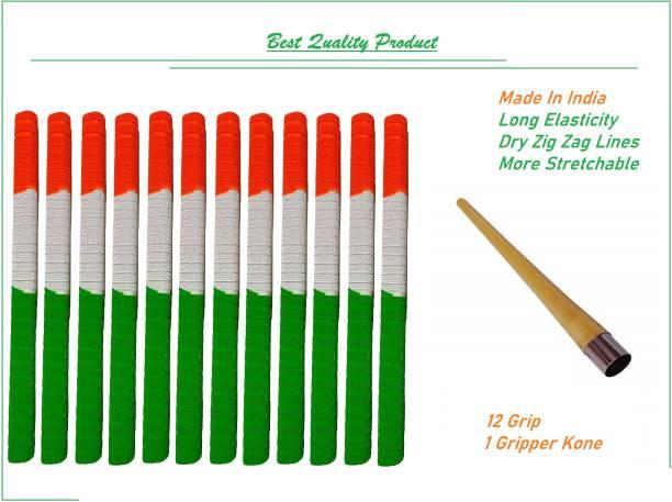 VSM Nation Tri Color Handle Bat Grip 12 Grip and 1 Gripper Kone Dry Feel