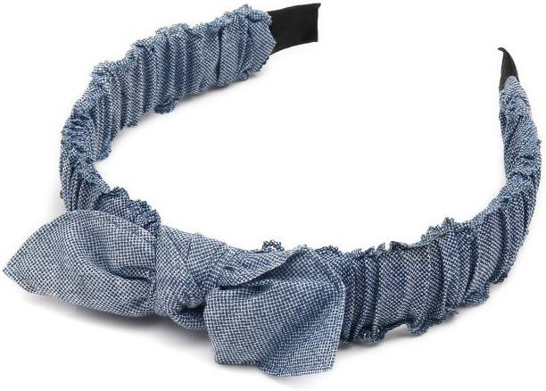 Sukkhi Elegant Denim Fabric Hair Band Hair Accessories for Women and Girl (Pack of 1) (Size: Free Size) Hair Band