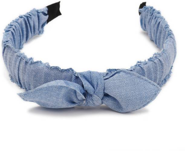 Sukkhi Classy Denim Fabric Hair Band Hair Accessories for Women and Girl (Pack of 1) (Size: Free Size) Hair Band
