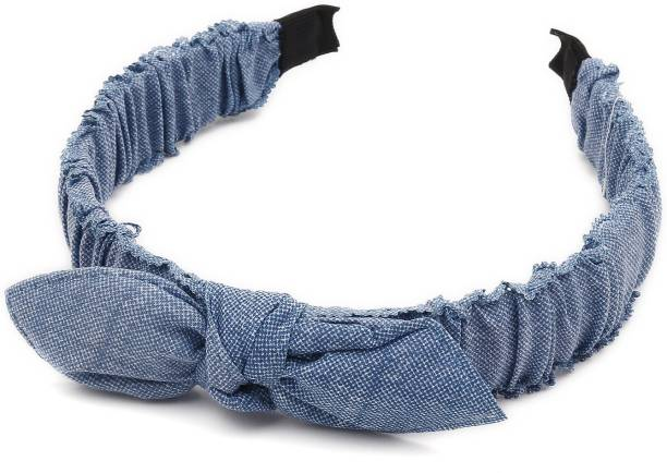 Sukkhi Fancy Denim Fabric Hair Band Hair Accessories for Women and Girl (Pack of 1) (Size: Free Size) Hair Band