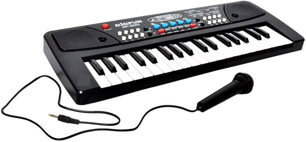 Myric Big Fun 37 Key Piano Keyboard Toy with Dc Power Option, Recording and Mic for Kids - 2018 Latest Model with mic