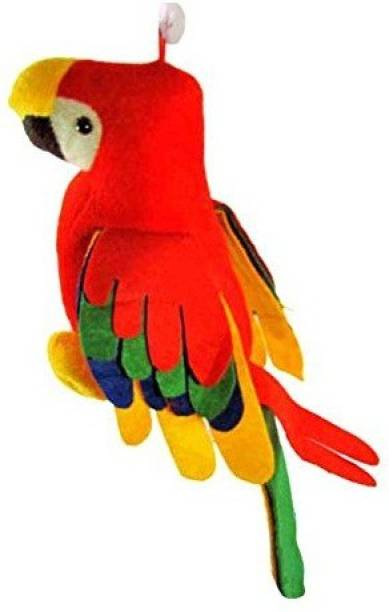Grizzly Feel Soft Toys Extra Large Very Soft Musical Parrot for Girlfriend/Birthday  - 6 inch