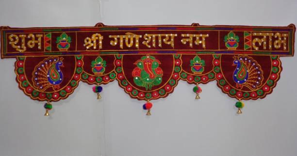 Orange Enterprise Traditional Door Hanging Toran ( Maroon - 36 Inches ) Toran