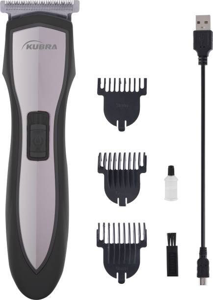 KUBRA KB-2035 Cordless Stainless Steel Rechargeable Hair and Beard  Runtime: 40 min Trimmer for Men