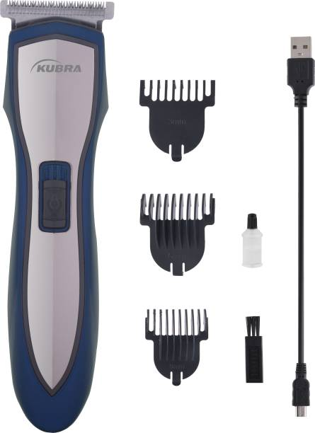 KUBRA KB-2035 Rechargeable Stainless Steel 40 Minutes Runtime Hair and Beard trimmer For Men  Runtime: 40 min Trimmer for Men