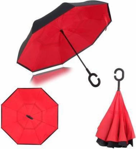 sutariya brothers Layer Inverted Reversible No Drip Umbrella with C Shape Handle Umbrella