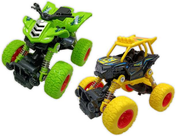 Toy Shack Pull Back ATV & Rock Crawler Off Road Truck Die Cast Vehicle with Rubber Wheels for Kids