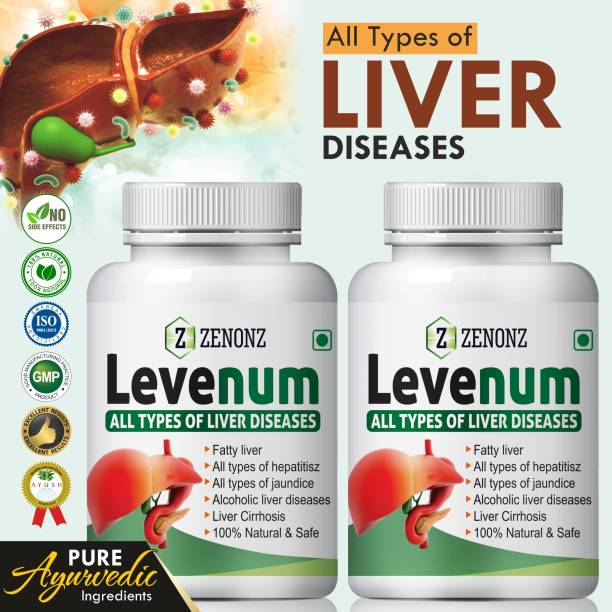 zenonz Levenum Herbal Ayurvedic For Formulated Specially To Benefit Liver Cells (120 Capsules)