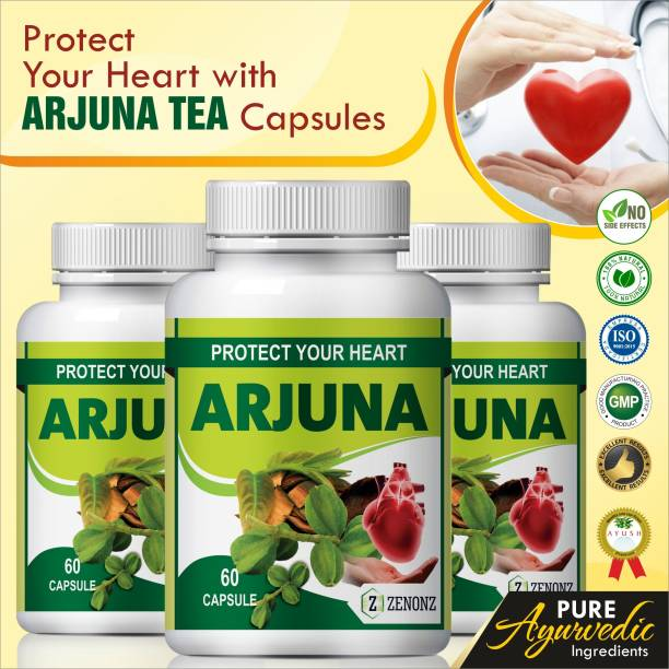 zenonz arjun tea herb essential for heart care capsules 100%Natural
