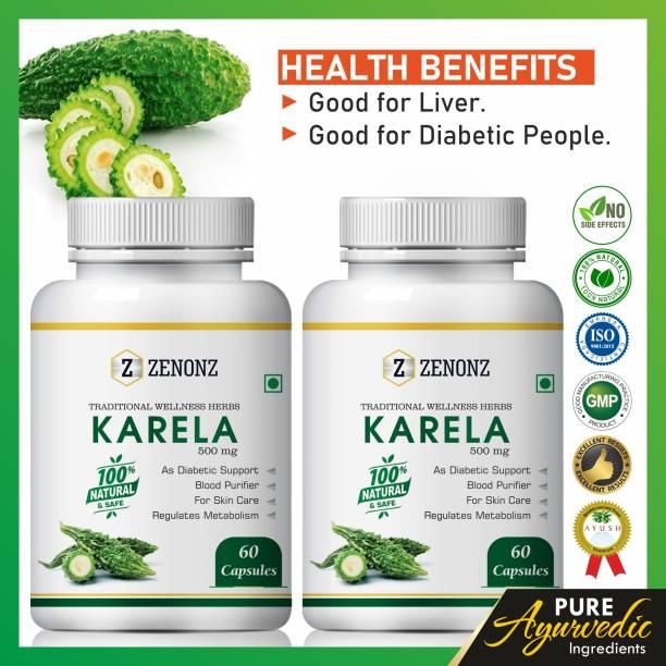 zenonz Karela for diabetes care herbal capsules