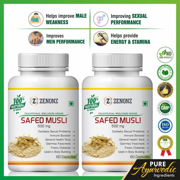 zenonz Safed Musli for sex power capsule for men long time capsules