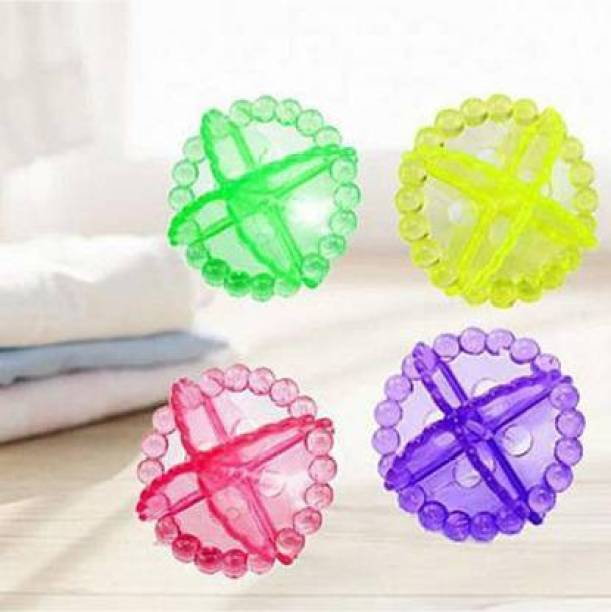WOMIKOL Silicone Laundry Ball Solid Colorful Washing Machine Balls for Cleaning Better Reusable Washing Machine Ball Laundry Dryer Ball (Pack of 4) Detergent Bar