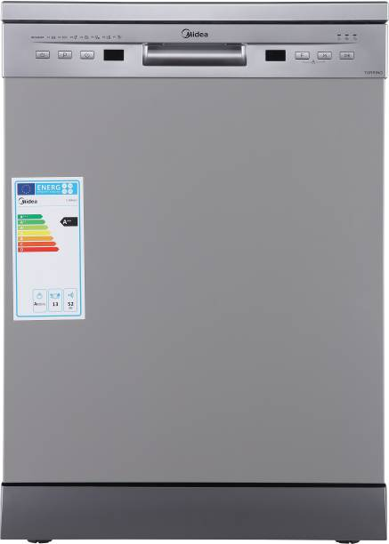 Midea TORRINO,WQP12-5201F Free Standing 13 Place Settings Dishwasher