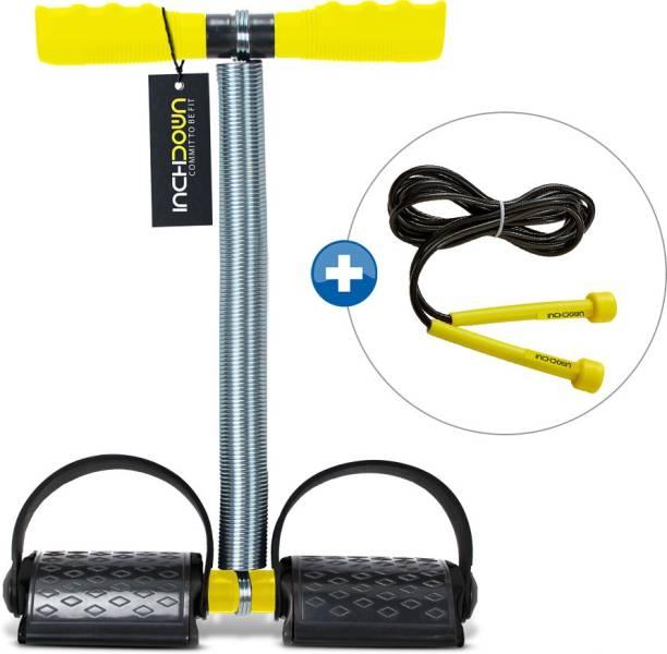 Inchdown Tummy Trimmer Ab Exerciser & Workout Skipping Ropes Gym & Fitness Kit