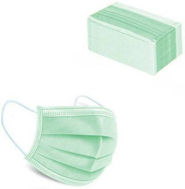 Rockjon Surgical Nose Pin Anti Pollution Mask with 4 Layer Protection Green pack of 50 Surgical Mask With Melt Blown Fabric Layer (Free Size, Pack of 50, 3 Ply) Surgical Nose Pin Anti Pollution Mask with 4 Layer Protection Green pack of 50 Surgical Mask With Melt Blown Fabric Layer (Free Size, Pack of 50, 3 Ply) Reusable, Washable Surgical Mask With Melt Blown Fabric Layer