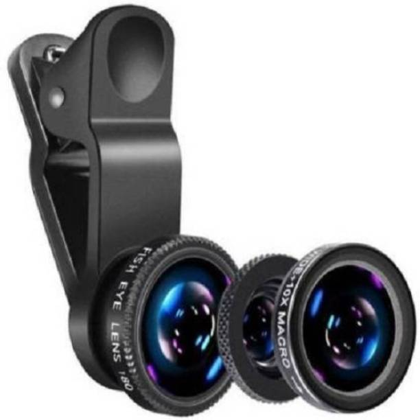 ashiv High Quality Universal Clip-On 3-in-1 Smartphone Camera Lens Kit - Fits iOS, Android and Most Mobile Devices - Mobile Camera Zoom Lens Kit 180 Degree Fisheye Lens, 0.67x Wide-Angle Lens, 10x Macro Lens Mobile Phone Lens Mobile Phone Lens