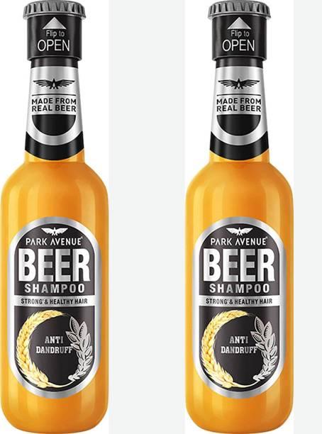 PARK AVENUE ANTI DANDRUFF Beer shampoo 180ml - For Men Pack of 2