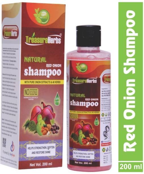 TreasureHerbs Red Onion Shampoo for Hair Growth and Hairfall Control