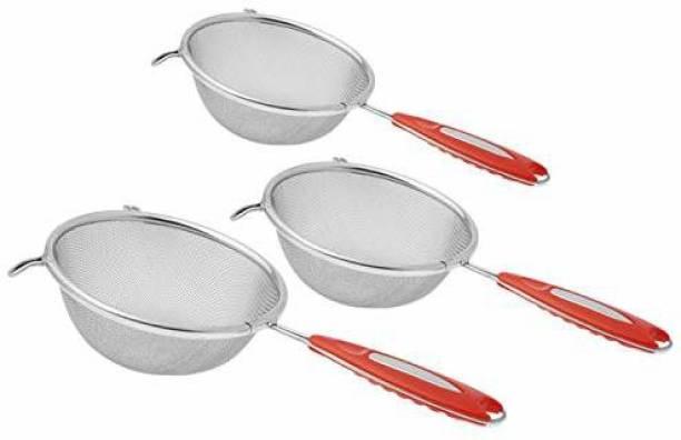 AXOLOTL Stainless Steel Juice/Soup Strainer Combo, Diameter ( 12 cm, 14 cm & 17 cm) (Pack of 3) Tea Strainer