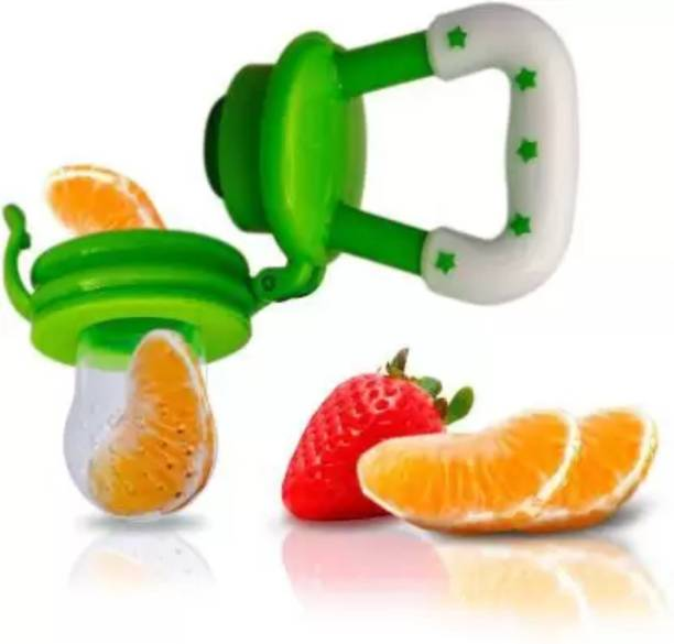 MOM'S PRIDE BPA-Free Silicone Food Nibbler for Fruit and Veggie Teether and Feeder Soother