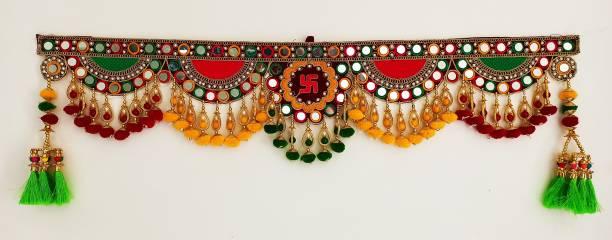 REPTUM DECOR Traditional Multi Zula Pearl Beads Handmade Bandarwal Toran