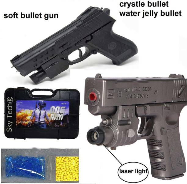 KRISHNA GIFT STORE PUBGS Soft Water Bullets Toys Gun Plastic Safe Gun Weapon Pistol Gunshot Outdoor Game Toy Gun Children Kid Boys Gift (Black Color) Guns & Darts