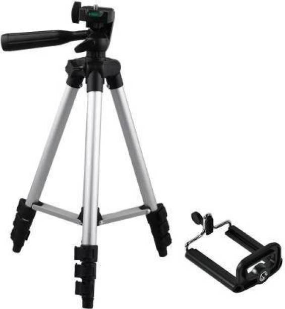 EFTSOON Tripod 3110 Professional Look Lightweight Portable Tripod For Gopro Fuji Canon Sony Nikon Camera, 4 section leg tripod with mobile clip holder for all Smartphone Camera Tripod 3110 Stand Mobile Phone Video Camera Tripod Mini Portable Adjustable Lightweight Aluminum Tripod with Mobile Phone holder mount Tripod Tripod, Tripod Bracket