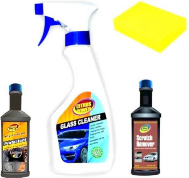 CITRUS POWER Car glass cleaner, Car scratch remover, Car all in one protactant Combo