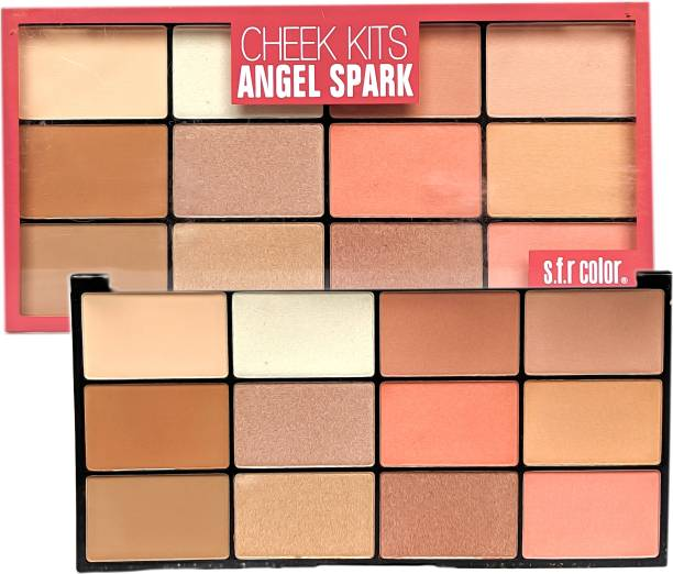 s.f.r color Cheek kits Angel Spark Matte Frost Highlight / Blusher-01