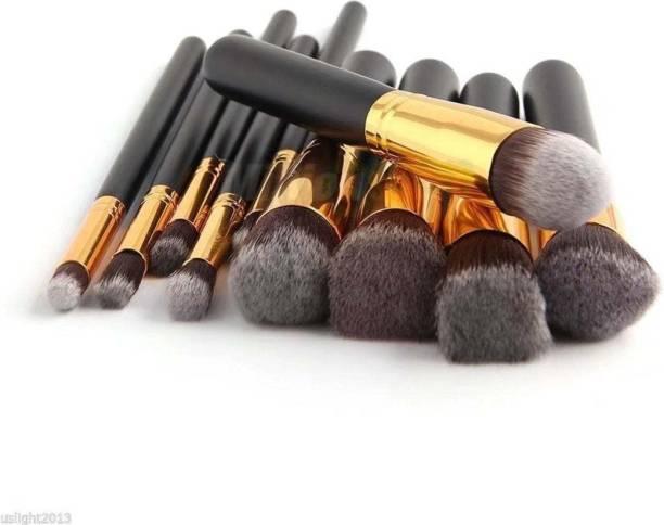 DUcare Makeup Brushes Set Tool Pro Foundation Eyeliner Eyeshadow (Black)
