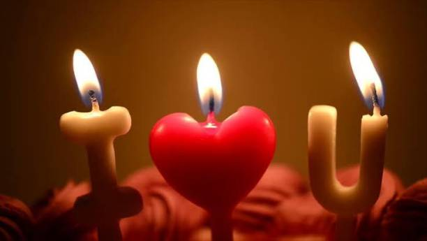 gorgeous moment somkeless candle for couple(i love you) candle Candle