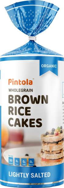 Pintola Organic Wholegrain Brown Rice Cakes (All Natural, Lightly Salted)