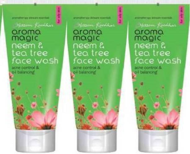 Aroma Magic NEEM , TEA AND TREE FACE WASH ( 100GM*3) Face Wash