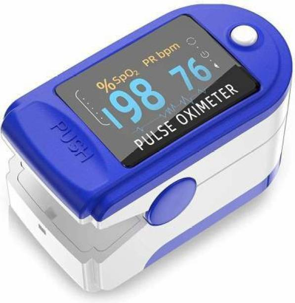 Dr. Oxiblue FINGER PULSE OXIMETER CL-001 + OLED Digital Finger Pulse Oximeter Spo2H Blood Oxygen Monitor Arterial Saturation Monitor With Pulse Rate Monitor Heart Rate Monitor Medical Health Monitoring Device with Automatic Shutdown Fintertip Pulse Oximeter for Measuring Human Hemoglobin Saturation Pulse Oximeter
