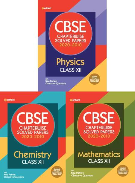 Arihant CBSE Chapterwise Solved Papers PHYSICS, CHEMISTRY, MATHEMATICS Class 12 For 2021 Exam