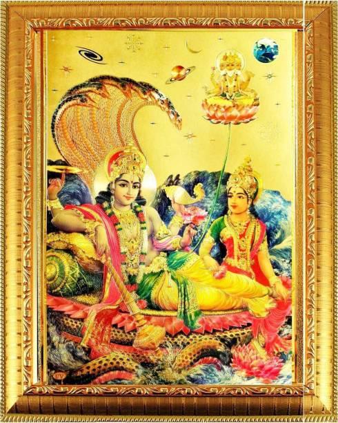 SUNINOW Lord vishnu laxmi Photo Frame   God Photo Frame   God Photos   bhagwan photo Religious Frame