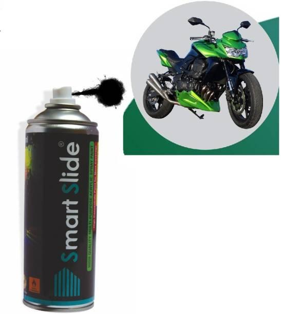 SMART SLIDE Multipurpose Black Color Spray Paint for Cars / Bikes / Furniture / Plastic / Wood / Glass (Black) Black Spray Paint 400 ml
