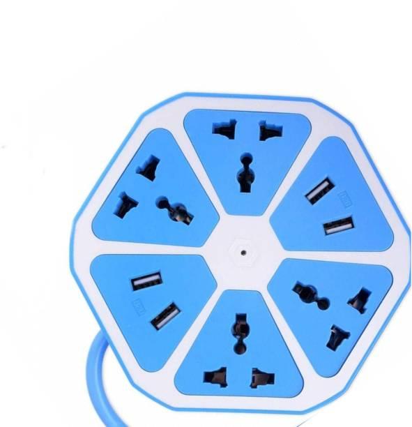Frocel Demanding Socket with USB Charger, 4-Outlet with 4-USB Power Socket Extension Board with Cord, Mobile Charging USB Power Hub 4 Socket Surge Protector 6  Socket Extension Boards