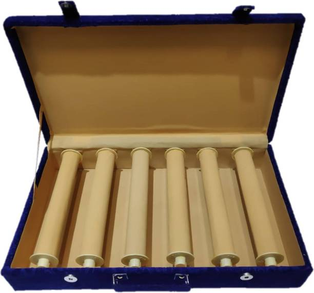 S enterprises 6 Rods Bangle Box Velvet Coated Vanity Box Makeup jewelry Bangle Vanity Box