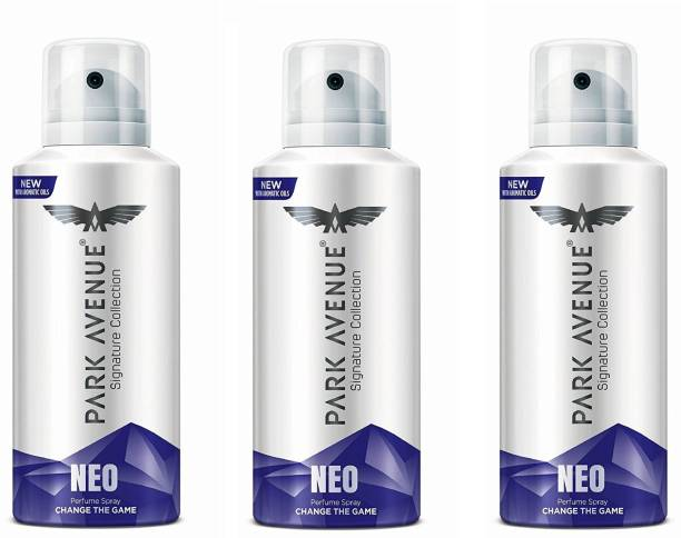 PARK AVENUE Neo Signature Collection Body Spray 130ML Each (Pack of 3) Deodorant Spray  -  For Men & Women
