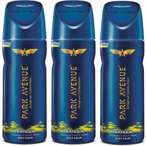 PARK AVENUE Tranquil Deodorant Combo Pack of 3 Deodorant Spray  -  For Men