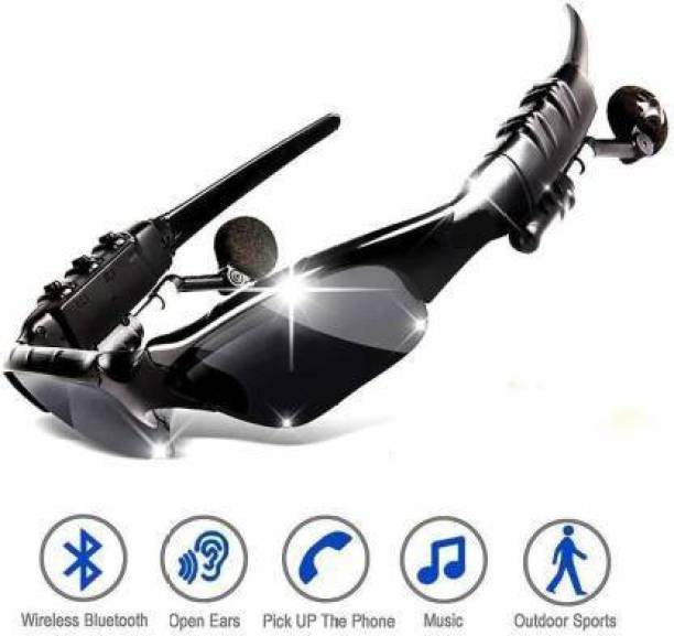 Nehnovit Bluetooth Smart Sunglasses with Wireless Earphones Attached for Hands-Free Calling for Driving | Riding | Fishing | Motorcycle and Outdoor Sports