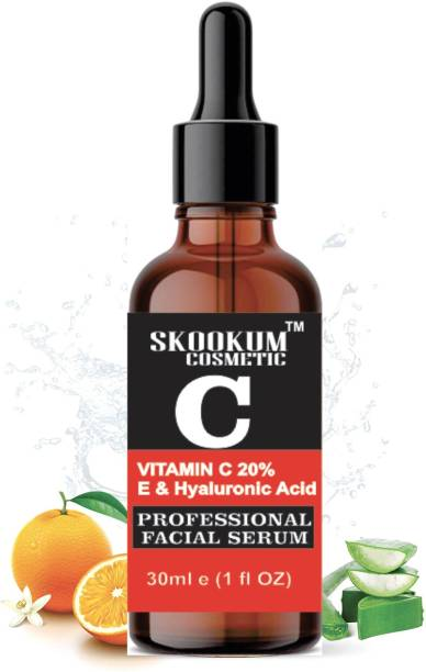 SKOOKUM Vitamin C Serum For Anti Aging Fairness and Skin Lightening, Facial Serum With Vitamin C 20% Hyaluronic Acid