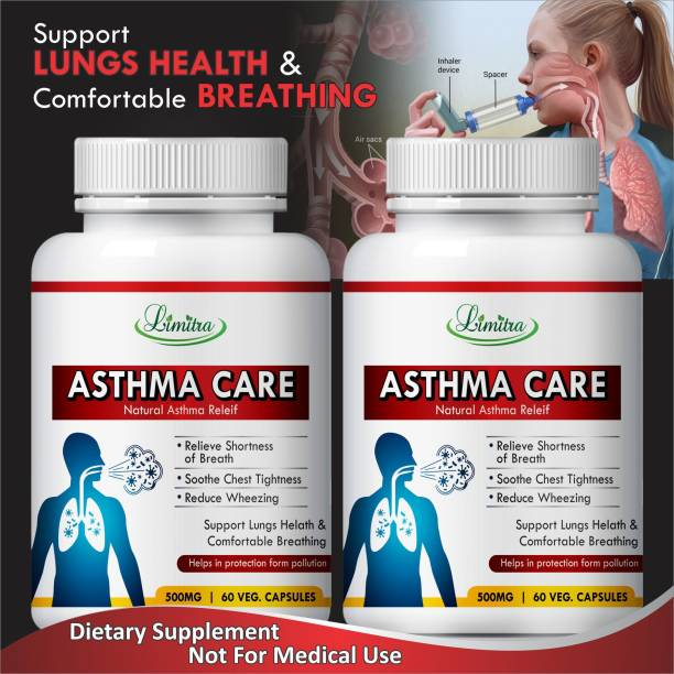Limitra Asthma care Herbal Capsules For Complete Solution of Asthma 100% Ayurvedic